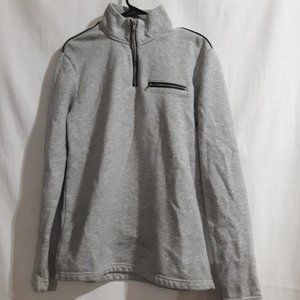 Alfani Fleece Sweater 1/4 zip Gray Size:S